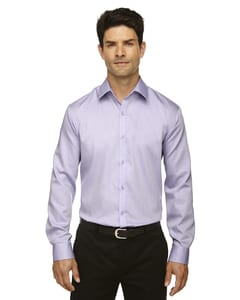 Ash City North End 88673 - Boulevard Mens Wrinkle Free 2-Ply 80'S Cotton Dobby Taped Shirt With Oxford Trim
