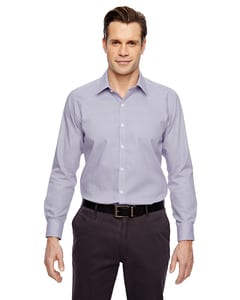 Ash City North End 88690 - Precise Mens Wrinkle Free 2-Ply 80'S Cotton Dobby Taped Shirt