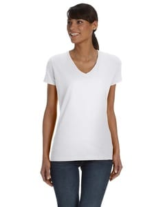 Fruit of the Loom L39VR - Ladies 5 oz., 100% Heavy Cotton HD® V-Neck T-Shirt
