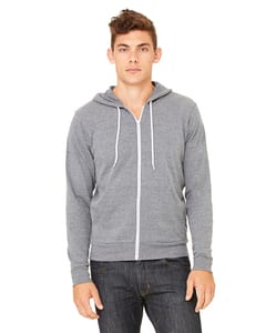 Bella+Canvas 3739 - Unisex Poly-Cotton Fleece Full-Zip Hoodie