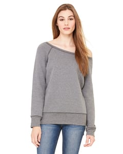 Bella+Canvas 7501 - Ladies Sponge Fleece Wide Neck Sweatshirt