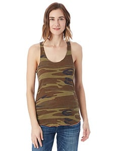 Alternative AA1927P - Ladies Meegs Printed Racer Tank