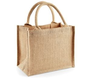 Westford Mill WM412 - Jute mini gift bag Bolso