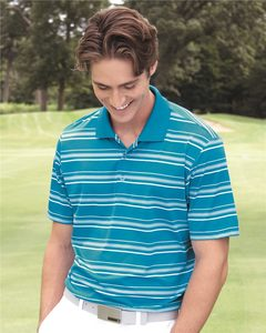 adidas A123 - Golf Puremotion Textured Stripe Polo