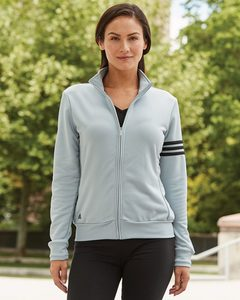 adidas A191 - Ladies ClimaLite® 3-Stripes French Terry Full-Zip Jacket