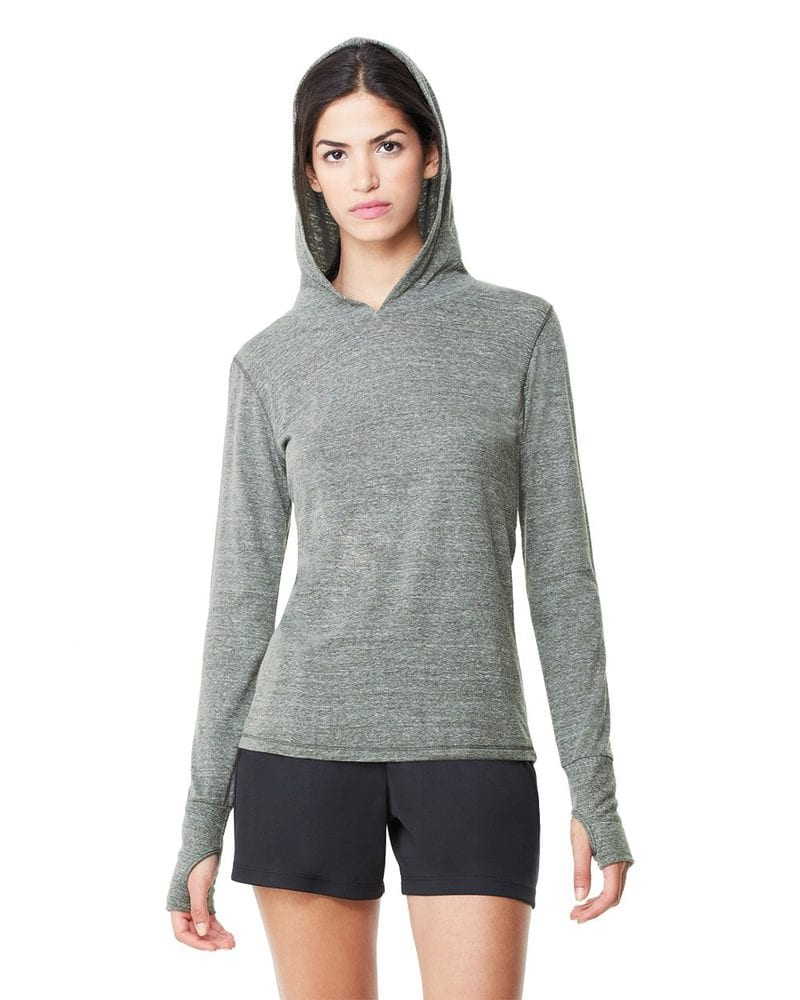 All Sport W3101 - Ladies' Triblend Long Sleeve Hooded Pullover