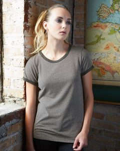 Alternative 1913 - Ladies Eco Mock Twist Ideal Ringer Tee