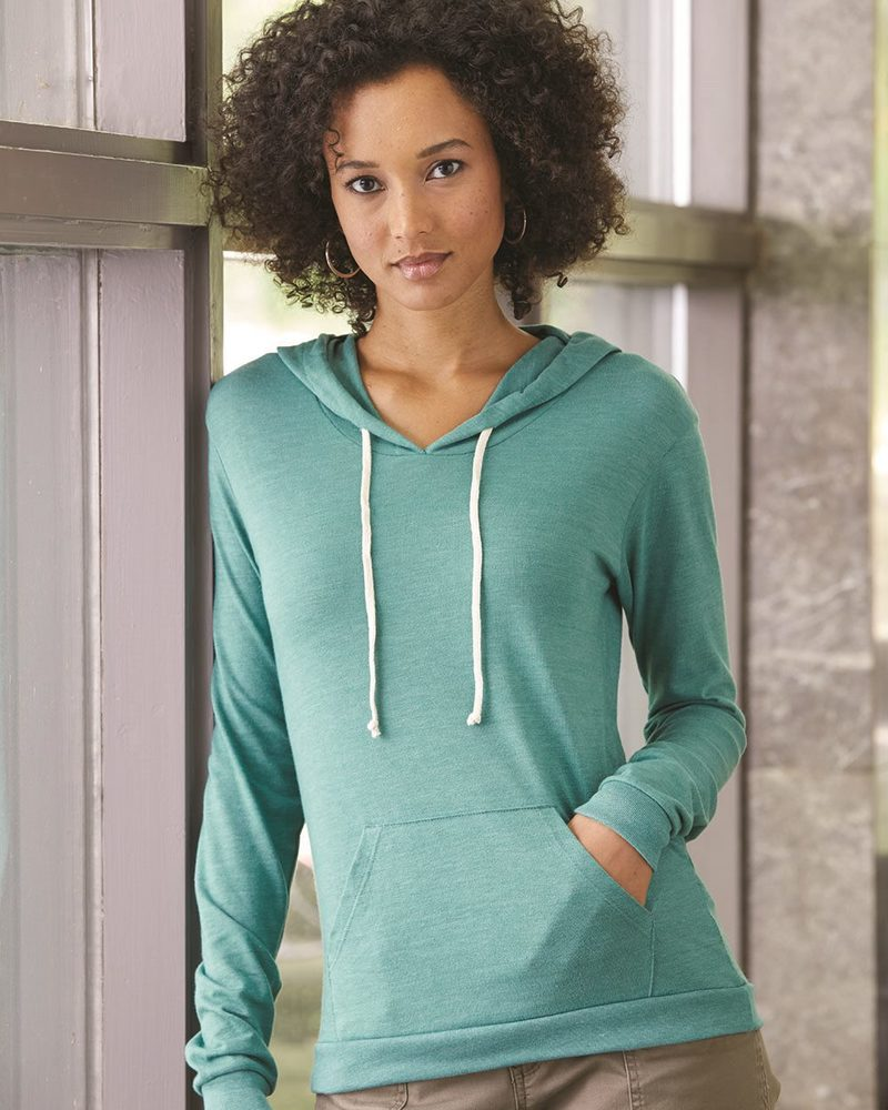Alternative 1928 - Ladies' Eco-Jersey Classic Hooded Pullover T-Shirt