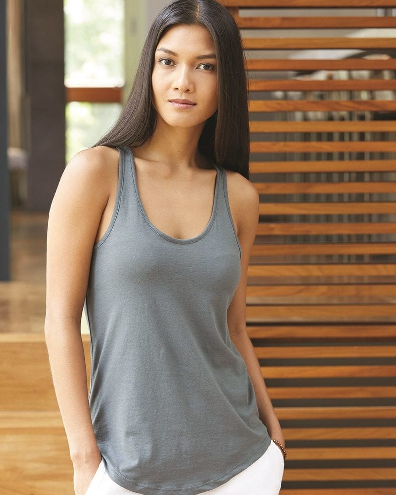 Alternative 4031 - Satin Jersey Ladies' Shirttail Tank
