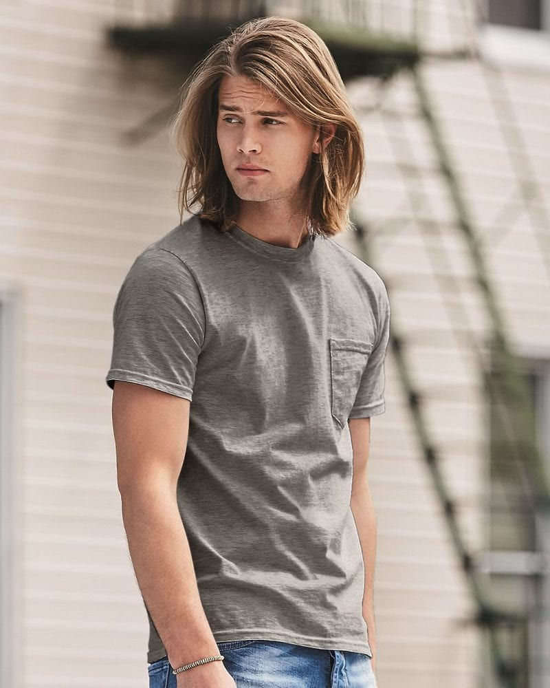Anvil 783 - Midweight Short Sleeve T-Shirt With a Pocket