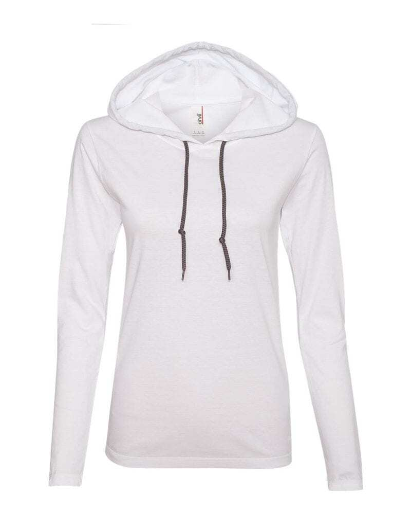 Anvil 887L - Ladies' Lightweight Long Sleeve Hooded T-Shirt