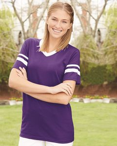 Augusta Sportswear 360 - V-Neck Jersey with Striped Sleeves