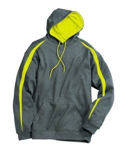 Badger 1467 - Fusion Colorblock Polyester Fleece Hooded Pullover