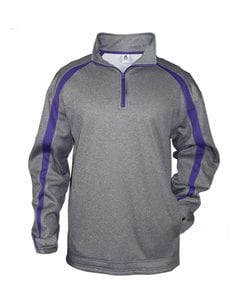 Badger 1481 - Fusion Colorblock Polyester Fleece Quarter-Zip Pullover