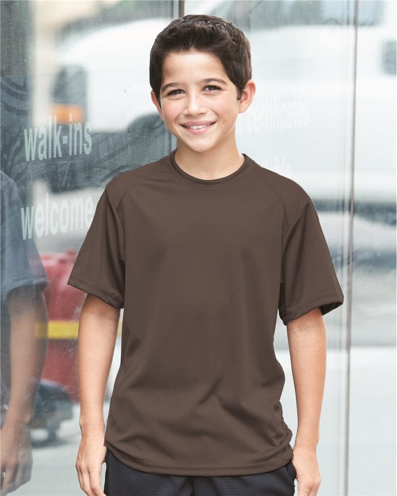 Badger 2120 - Youth B-Dry Core T-Shirt with Sport Shoulders