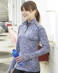 Badger 4193 - Ladies Performance Blend Quarter-Zip Pullover