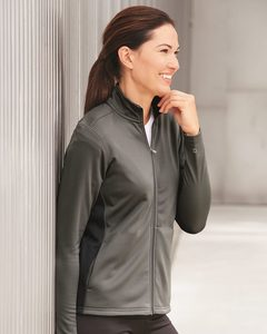 Champion S260 - Ladies Colorblocked Performance Full-Zip Sweatshirt