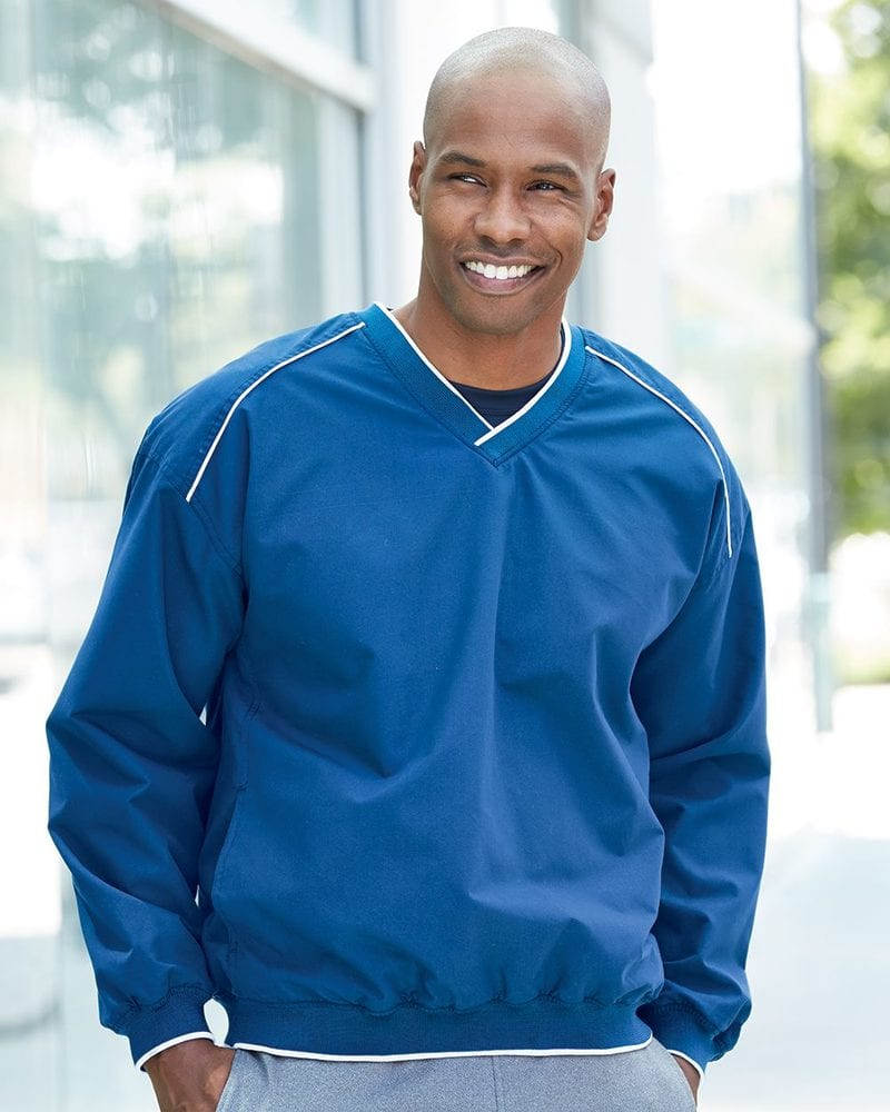 Badger 7601 - Windshirt with White Piping and Trim