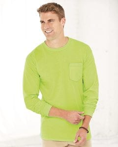 Bayside 3055 - Union-Made Long Sleeve T-Shirt with a Pocket