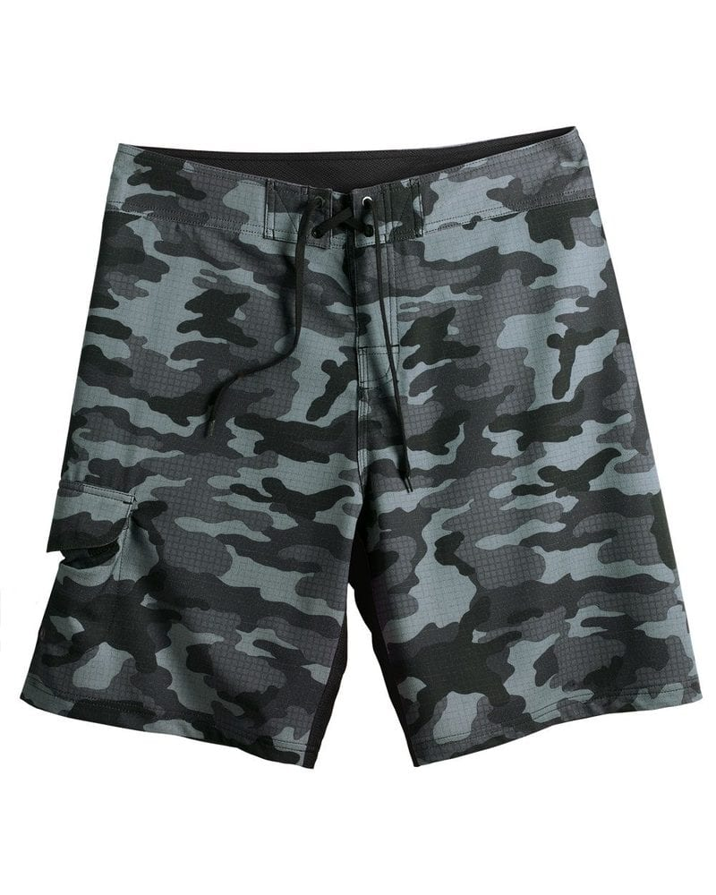 Burnside B9371 - Camo-Diamond Dobby Board Shorts