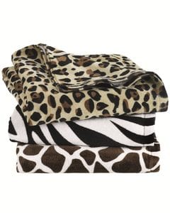 Carmel Towel Company C3060A - Animal Print Velour Beach Towel