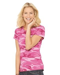 Code V 3665 - Ladies Camouflage T-Shirt