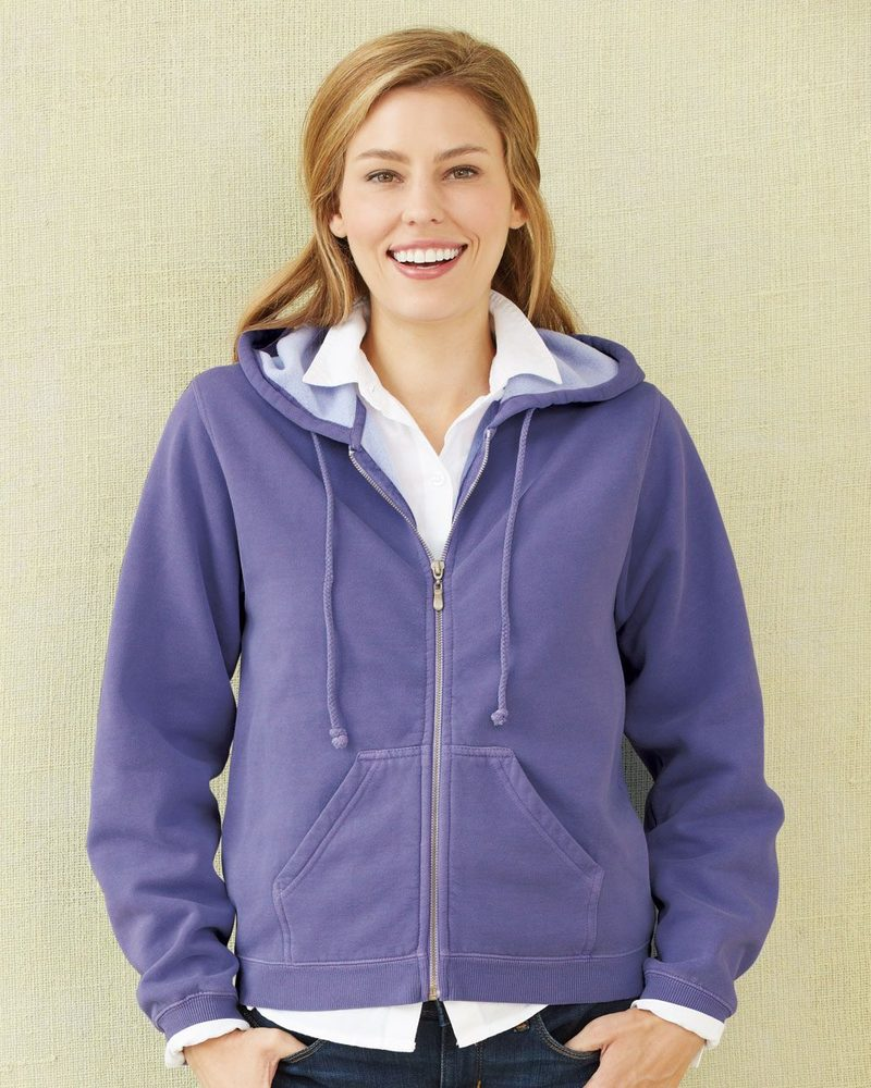 Comfort Colors 1598 - Ladies' Garment Dyed Hooded Full-Zip Sweatshirt