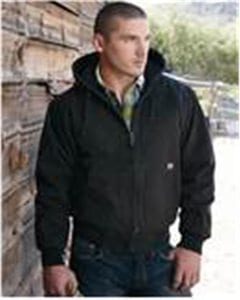 DRI DUCK 5020T - Hooded Cloth Jacket with Tricot Quilt Lining Tall Sizes
