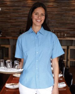 FeatherLite 5231 - Ladies Short Sleeve Stain Resistant Oxford Shirt