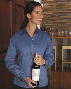 FeatherLite 5283 - Ladies Long Sleeve Stain-Resistant Tapered Twill Shirt