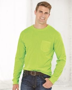Bayside 8100 - USA-Made Long Sleeve T-Shirt with a Pocket