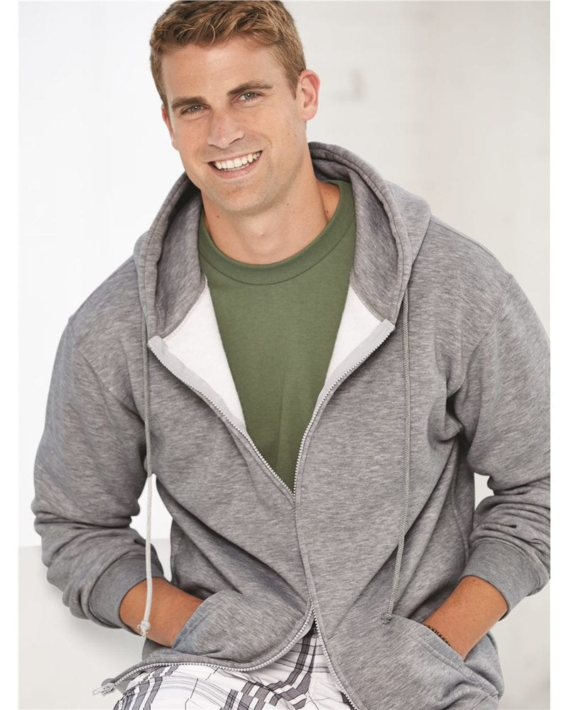 Bayside 900 - USA-Made Full-Zip Hooded Sweatshirt