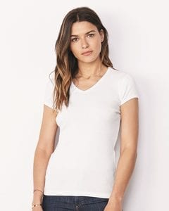 Bella+Canvas 1005 - Ladies Baby Rib Short Sleeve V-Neck T-Shirt