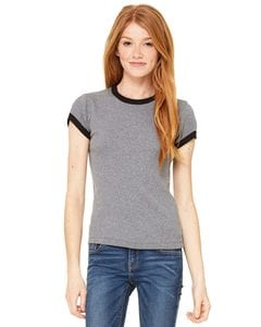 Bella+Canvas 1007 - Ladies Baby Rib Short Sleeve Ringer T-Shirt