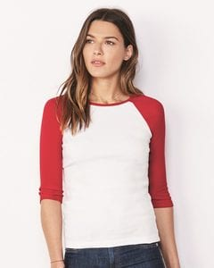 Bella+Canvas 2000 - Ladies Baby Rib Three-Quarter Sleeve Raglan T-Shirt