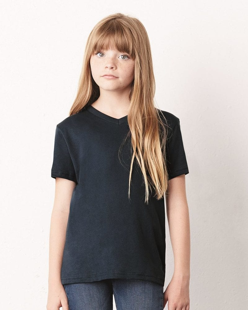 Bella+Canvas 3005Y - Youth Short Sleeve V-Neck Jersey T-Shirt