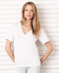 Bella+Canvas 3105 - Unisex Deep V-Neck Jersey T-Shirt