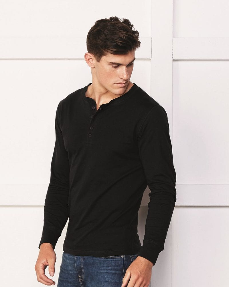 Bella+Canvas 3150 - Long Sleeve Jersey Henley
