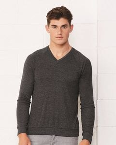 Bella+Canvas 3985 - Unisex Pullover Raglan V-Neck Lightweight Sweater