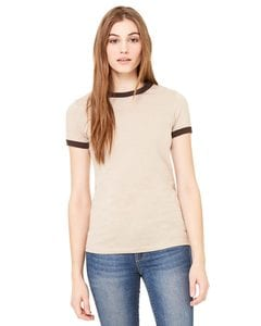 Bella+Canvas 6050 - Ladies Heather Ringer T-Shirt