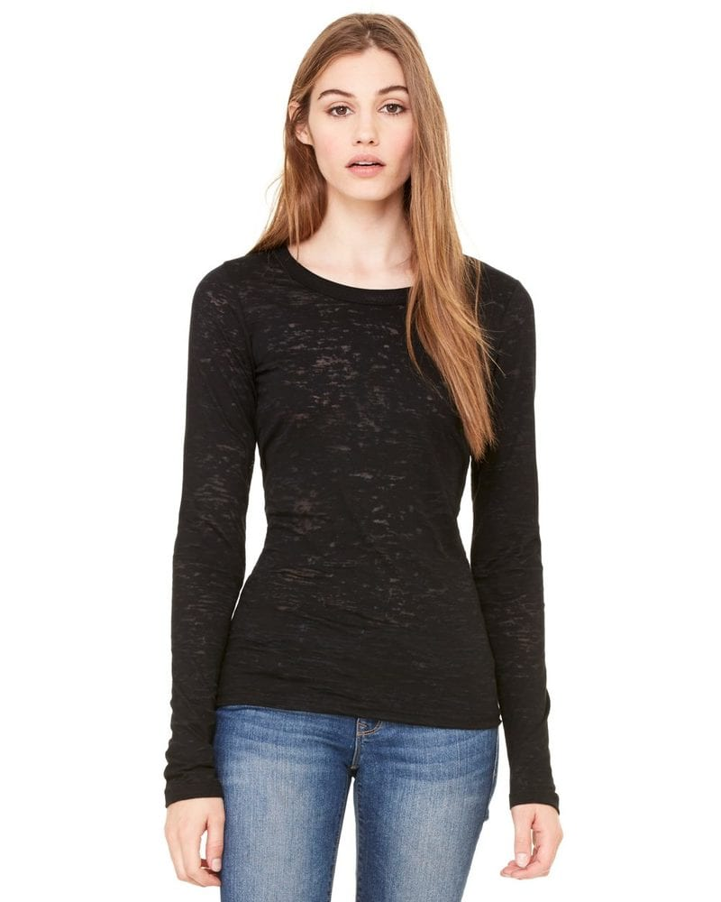 Bella+Canvas 8650 - Ladies' Burnout Long Sleeve T-Shirt