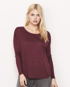 Bella+Canvas 8852 - Ladies Flowy Long Sleeve T-Shirt With 2x1 Rib Sleeves
