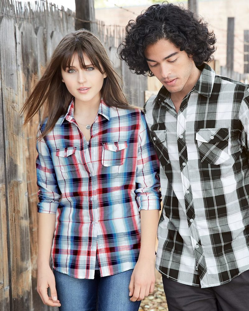 Burnside B5222 - Ladies' Long Sleeve Plaid Shirt