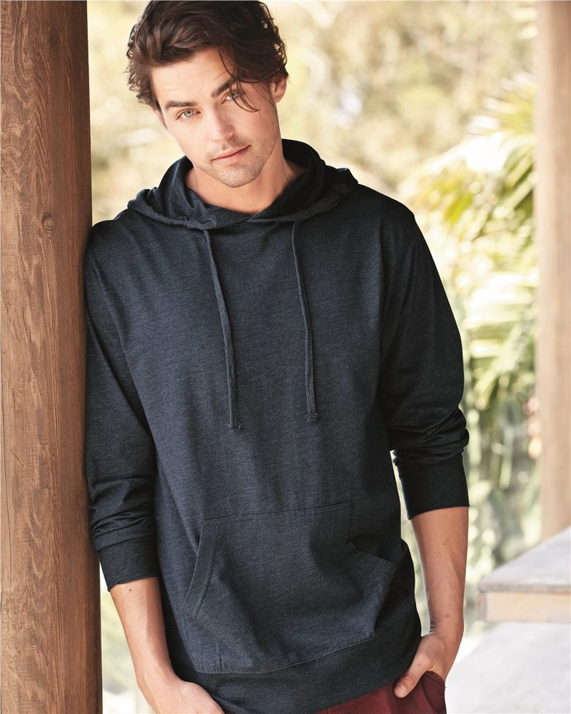 Independent Trading Co. SS150J - Men's Lightweight Jersey Full Zip Hooded Pullover