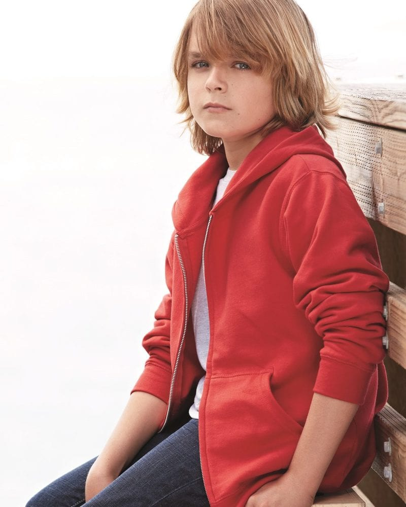 Independent Trading Co. SS4001YZ - Youth Midweight Full Zip Hood Fleece