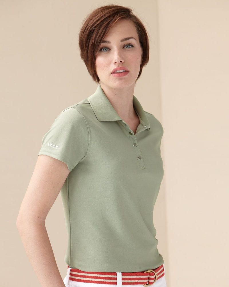 IZOD 13Z0081 - Ladies' Performance Pique Sport Shirt with Snaps