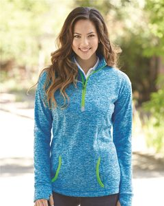 J. America 8617 - Ladies Cosmic Fleece Quarter Zip Pullover