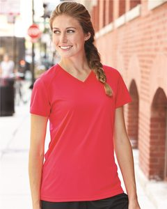 Badger 4162 - Ladies B-Dry Core V-Neck Tee