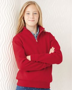 JERZEES 995YR - Nublend® Youth Quarter-Zip Cadet Collar Sweatshirt