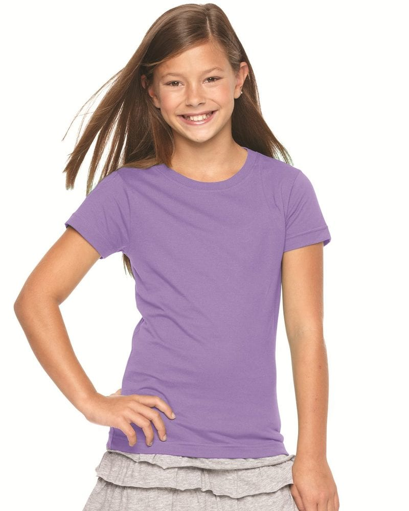 LAT 2616 - Girls' Fine Jersey Longer Length T-Shirt